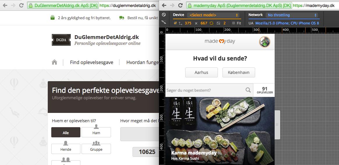 SSL på begge vore sites, med forskellige certifikater
