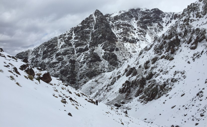 Snestorm og vandretur på Mt. Toubkal